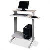 "Buddy Euroflex Stand-up Workstation - Rectangle Top - L-shaped Base - 44.12"" Height x 29.50"" Width x 19.63"" Depth - Melamine"