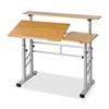 Height-Adjustable Split Level Drafting Table - Rectangle Top - Assembly Required - Steel, Wood