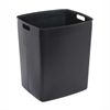 "Rigid Plastic Trash Can Liner - 45 gal Capacity - 21.5"" Height x 24.3"" Width x 20.5"" Depth - Plastic - Black"