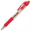 Retractable Gel Ink Pen - Medium Point Type - 0.7 mm Point Size - Point Point Style - Red Gel-based Ink - Red Barrel - 1 Dozen