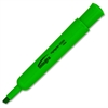 Chisel Tip Desk Highlighter - Chisel Point Style - Green - 1 Dozen