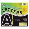 "Pacon Self-Adhesive Removable Letters - 78 Character - Self-adhesive - Acid-free, Fadeless - 4"" Length - Black - 1 / Pack"