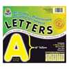 "Self-Adhesive Removable Letters - 78 Character - Self-adhesive - Acid-free, Fadeless - 4"" Length - Yellow - 1 / Pack"