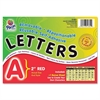 "Colored Self-Adhesive Removable Letters - 159 Character - Self-adhesive - Acid-free, Fadeless - 2"" Length - Red - 159 / Pack"