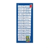"Scheduling Pocket Chart - 14 Pocket(s) - 33"" Height x 13"" Width - Wall Mountable - Blue - Nylon - 1Each"