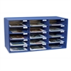"Classroom Keepers Classroom Mailbox - 15 Compartment(s) - Compartment Size 3"" x 12.50"" x 10"" - Wall Mountable - Recycled - Blue - Cardboard - 1Each"