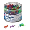 "OIC Translucent Push Pins - 0.5"" Length x 0.3"" Diameter - 200 / Pack - Assorted - Steel"