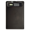 "OIC Plastic Clipboard With Calculator - 9"" x 13.75"" - Plastic - Black"