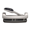 "OIC EZ Level 2-3 Hole Adjustable Punch - 3 Punch Head(s) - 15 Sheet Capacity - 9/32"" Punch Size - Silver"