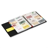 "Cardinal EasyOpen Card File Binder - 350 Capacity - 11"" Length x 8.50"" Width - 3-ring Binding - Refillable - Black Vinyl Cover"