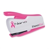 "PaperPro BCA inCOURAGE 12 Nano Stapler - 12 Sheets Capacity - Mini - 1/4"" Staple Size - Pink, White, Translucent"