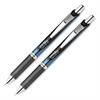 Pentel EnerGel RTX Retractable Liquid Gel Pen - Medium Point Type - 0.7 mm Point Size - Needle Point Style - Refillable - Black Gel-based Ink - Black, Silver Barrel - 2 / Set