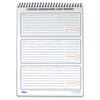 "Message Log Book - 50 Sheet(s) - Spiral Bound - 3 Part - 6"" x 9"" Sheet Size - White Sheet(s) - 1 Each"