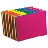 "Poly Top Tab File Guide - 5 Printed Tab(s) - Character - A-Z - 8.50"" Divider Width x 11"" Divider Length - Letter - Blue Polypropylene, Green, Yellow, Magenta, Strawberry Tab(s) - 25 / Set"