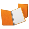 "Oxford Report Cover - 3"" Folder Capacity - Letter - 8 1/2"" x 11"" Sheet Size - 2 Fastener(s) - 20 pt. Folder Thickness - Pressguard - Tangerine - 1 / Each"