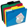 "Hot Pocket Poly File Folder - Letter - 8 1/2"" x 11"" Sheet Size - 1/3 Tab Cut - Top Tab Location - Poly - Assorted - 25 / Box"