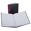 "Boorum & Pease Boorum B&P 1602 1/2 Srs Single Pg Columnar Books - 75 Sheet(s) - Thread Sewn - 11.93"" x 9.87"" Sheet Size - White Sheet(s) - Red, Blue Print Color - Black, Red Cover - Bond Paper - 1 Eac"