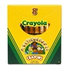 Crayola Large Multicultural Crayon - Assorted - 8 / Box