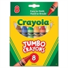 Crayola Jumbo Crayons - Assorted - 8 / Box