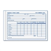 "Weekly Employee Time Card - Gummed - 1 Part - 4.25"" x 6"" Form Size - 1 / Each"