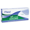"Mead Business Envelop - Business - #10 - 9.50"" Width x 4.12"" Length - 20 lb - Gummed - Wove - 40 / Box - White"