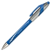 Paper Mate FlexGrip Elite Retractable Ballpoint Pen - Fine Point Type - 0.8 mm Point Size - Refillable - Blue - Blue Rubber Barrel - 1 Each
