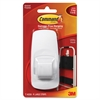 Command Utility Hook, Jumbo, White, 7.50lb Capacity, 1 Pack - 7.50 lb (3.40 kg) Capacity - Plastic - White - 1 Pack