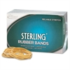 """Alliance Rubber 24185 Sterling Rubber Bands - Size #18 - 1 lb Box - Approx. 1900 Bands - 3"""" x 1/16"""" - Natural Crepe"""