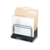 "Fellowes Designer Suites Step File - 6 Compartment(s) - Compartment Size 1"" - 10.5"" Height x 11.1"" Width x 7.1"" Depth - Desktop - Black, Pearl - 1Each"