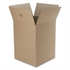 "Large Foldable Box - External Dimensions: 16"" Width x 15"" Depth x 16"" Height - Kraft - Brown - For Multipurpose - Recycled - 12 / Pack"