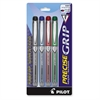 PRECISE Grip Rolling Ball Pen - Extra Fine Point Type - 0.5 mm Point Size - Assorted - 5 / Pack