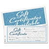 Adams Gift Certificate - 2-Part Carbonless, 25 Numbered Certificates per Book, Store Sign