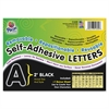 "Pacon Self-Adhesive Removable Letters - 159 Character - Self-adhesive - 2"" Height - Black - 159 / Pack"
