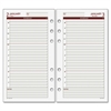 "Day Runner Express Planning Page - Julian - Daily - 1 Year - January 2017 till December 2017 - 8:00 AM to 7:00 PM - 1 Day Single Page Layout - 3.75"" x 6.75"" - 6-ring - White - Hole-punched"