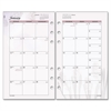 "Day Runner Express Nature Planning Page - Julian - Monthly - 1 Year - January 2017 till December 2017 - 1 Month Double Page Layout - 3.75"" x 6.75"" - 7-ring - White - Tabbed"
