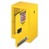 "Justrite Flammable Liquid Cabinet - 18"" x 23.3"" x 35"" - 1 x Shelf(ves) - 1 x Front Open Door(s) - Yellow"