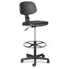 "Trax Drafting Chair - Urethane Seat - Urethane Back - 5-star Base - Black - 17"" Seat Width x 16.50"" Seat Depth - 18.5"" Width x 18.5"" Depth x 32"" Height"
