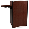 "AmpliVox Multimedia Computer Lectern - 44"" Height x 25.50"" Width x 20"" Depth - Mahogany, Stained, Thermofused Laminate (TFL)"