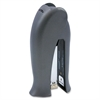 Squeeze Stand Up Clamshell Stapler - 12 Sheets Capacity - Half Strip - Assorted, Charcoal