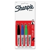 Sharpie Mini Permanent Marker - Fine Point Type - Point Point Style - Assorted - 4 / Set