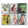 "Clear2c Magazine Display Rack - 6 x Magazine - 6 Compartment(s) - Compartment Size 7"" x 9.12"" x 2"" - 23.5"" Height x 28.8"" Width x 3"" Depth - Wall Mountable - Clear - Polycarbonate, Plastic - 1Ea"
