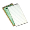 "TOPS Recycled Reporter's Notebook - 70 Sheets - Printed - Spiral - 4"" x 8"" - White Paper - 1 / Each"