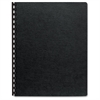 "Fellowes Linen Unpunched Presentation Covers - 11"" Height x 8.5"" Width x 0.1"" Depth - For Letter 8.50"" x 11"" Sheet - Black - 200 / Pack"