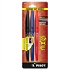 Gel Pen - Fine Point Type - 0.7 mm Point Size - Black, Blue, Red Gel-based Ink - 3 / Pack