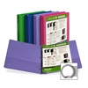 "Samsill 185 Value Insertable Fashion I View Binder - 1"" Binder Capacity - Letter - 8 1/2"" x 11"" Sheet Size - 2 Internal Pocket(s) - Assorted - Recycled - 1 Each"