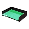 "Buddy Classic No Post Stacking Desk Tray - 2.8"" Height x 12"" Width x 9"" Depth - Desktop - Black - 1Each"