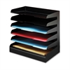 Buddy Horizontal Desktop Organizers - 6 Tier(s) - Desktop - Black - Steel - 1Each