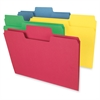 "Smead Colored SuperTab® Folders - Legal - 8 1/2"" x 14"" Sheet Size - 3/4"" Expansion - 1/3 Tab Cut - 11 pt. Folder Thickness - Recycled - 100 / Box"