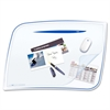 "Desk Mat - 16.50"" Length x 24.80"" Width x 2.17"" Thickness - Polystyrene - Blue"