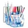 "CEP Ice Blue Desktop Organizer - 8 Compartment(s) - 3.6"" Height x 6"" Width x 5.6"" Depth - Desktop - Blue - Polystyrene - 1Each"
